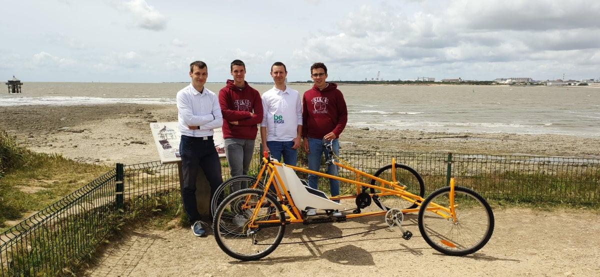 Quatre étudiants de La Rochelle créent un quadricycle