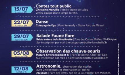La Rochelle à la belle étoile du 15 juillet au 26 août