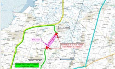 D'importants travaux engagés sur la RD 9 près de Saint-Xandre